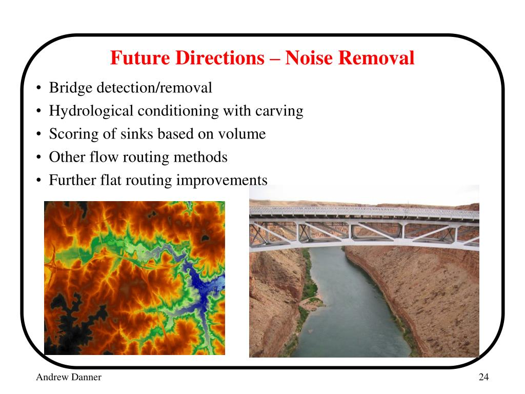 Future Directions – Noise Removal