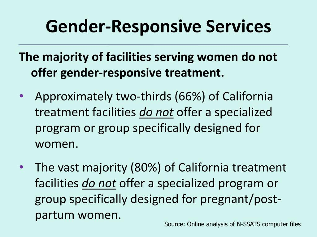 Gender-Responsive Services