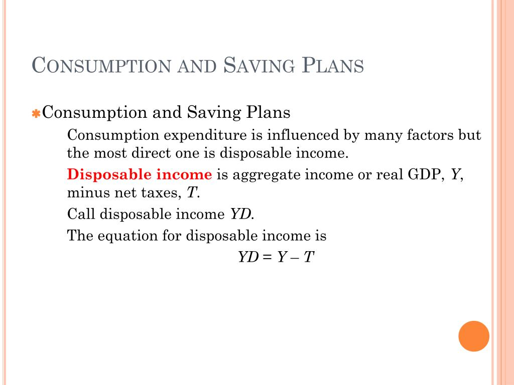 Consumption and Saving Plans