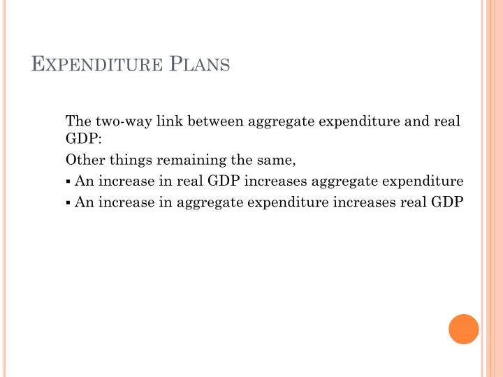 Expenditure plans3