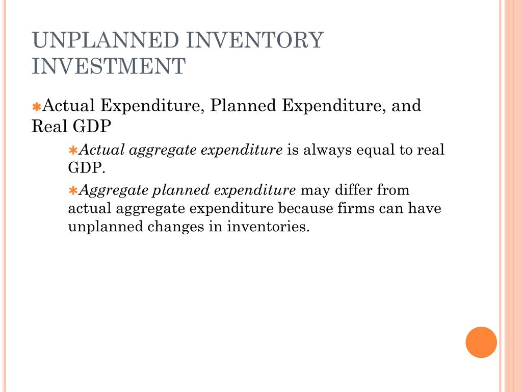 UNPLANNED INVENTORY INVESTMENT