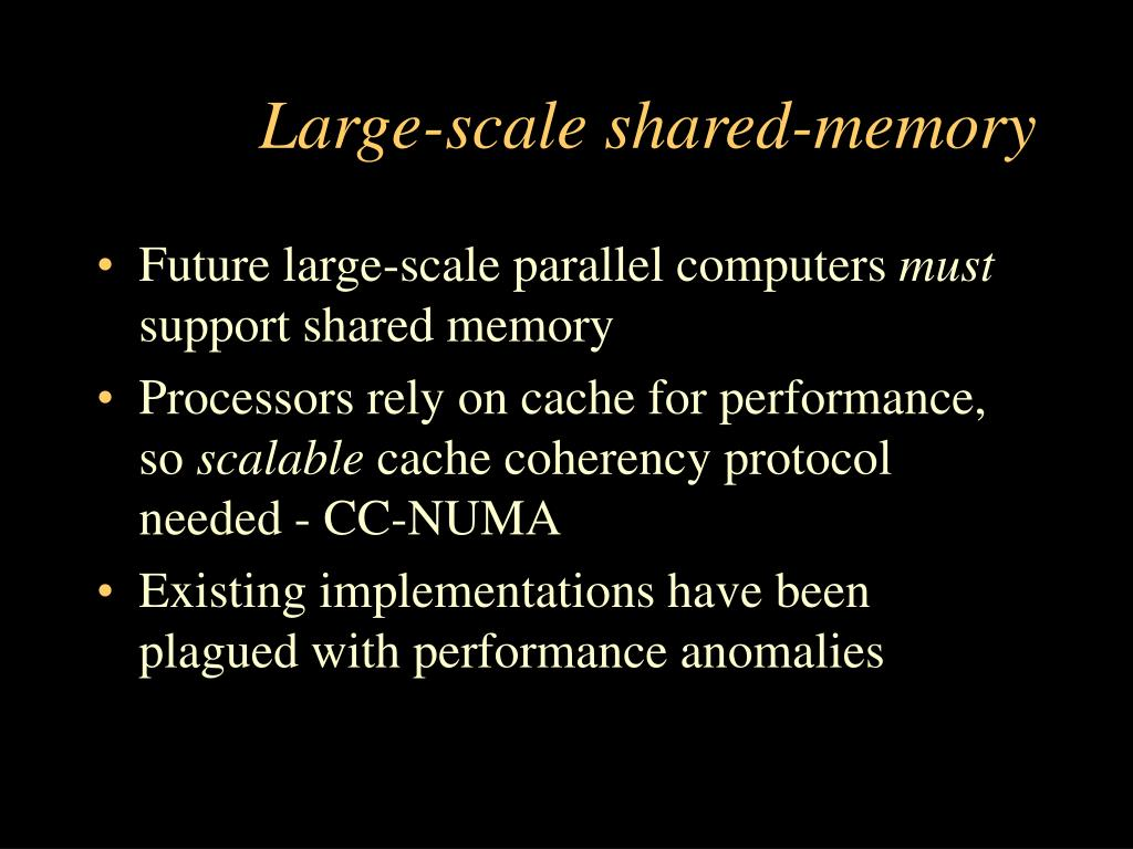Large-scale shared-memory