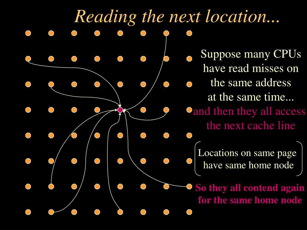 Reading the next location...