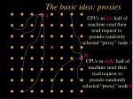 the basic idea proxies