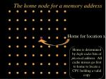 the home node for a memory address