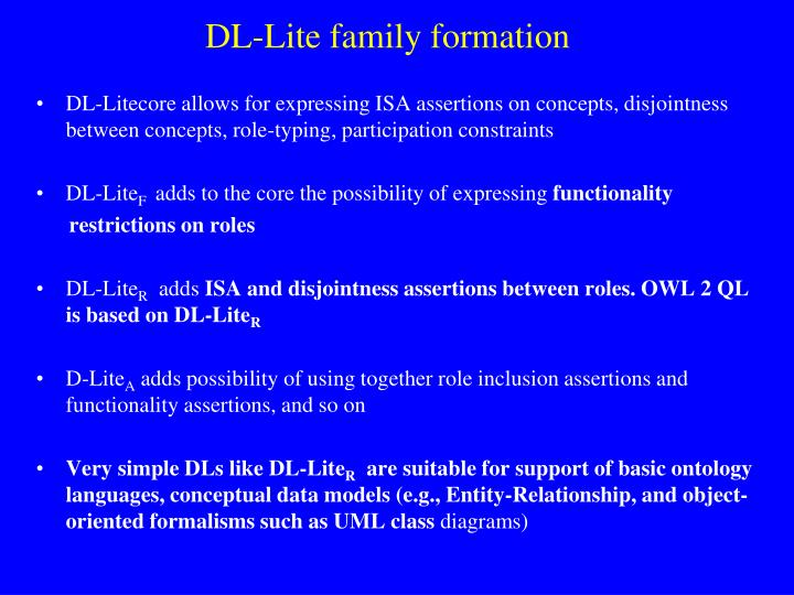 DL-Lite family formation