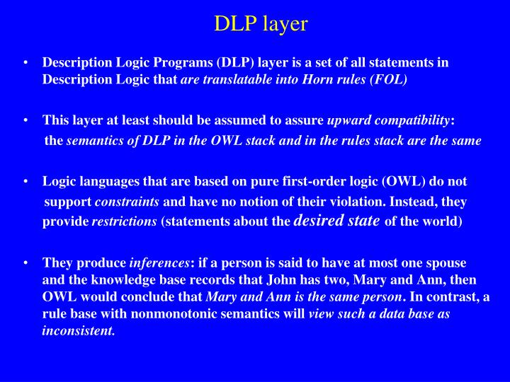 DLP layer