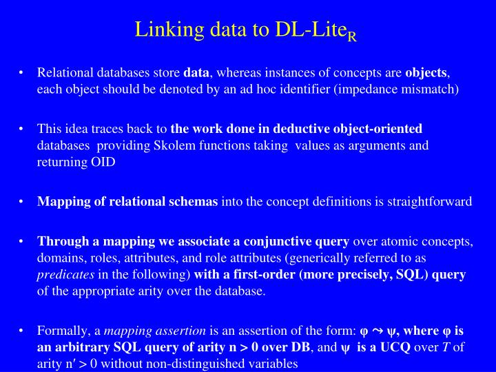Linking data to DL-