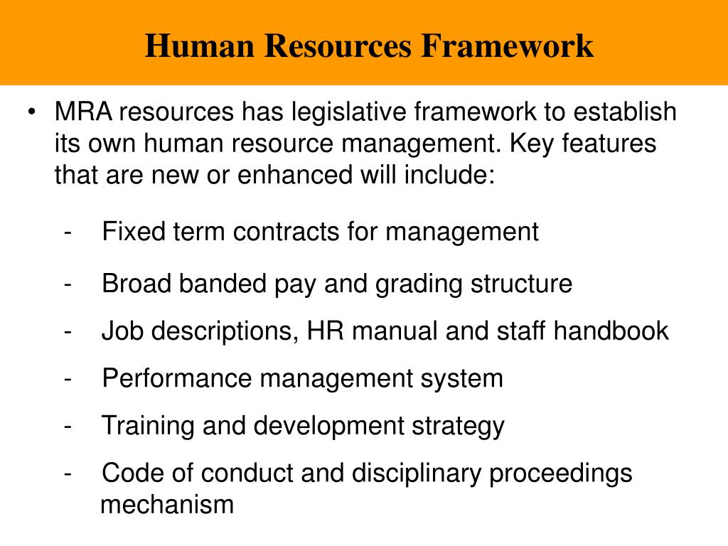 Human Resources Framework