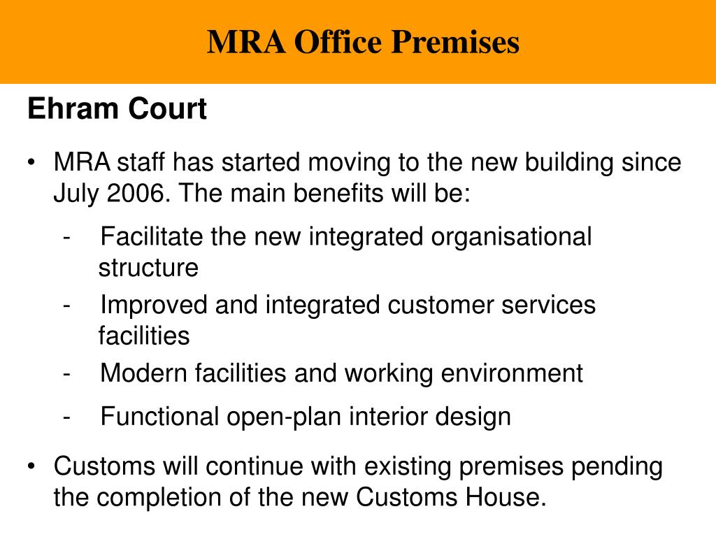 MRA Office Premises