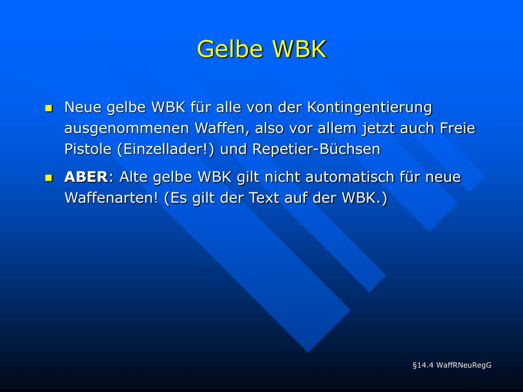 Gelbe WBK