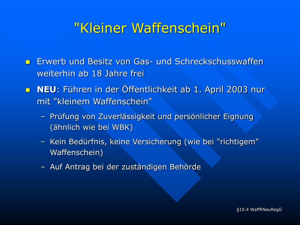 """""""Kleiner Waffenschein"""""""