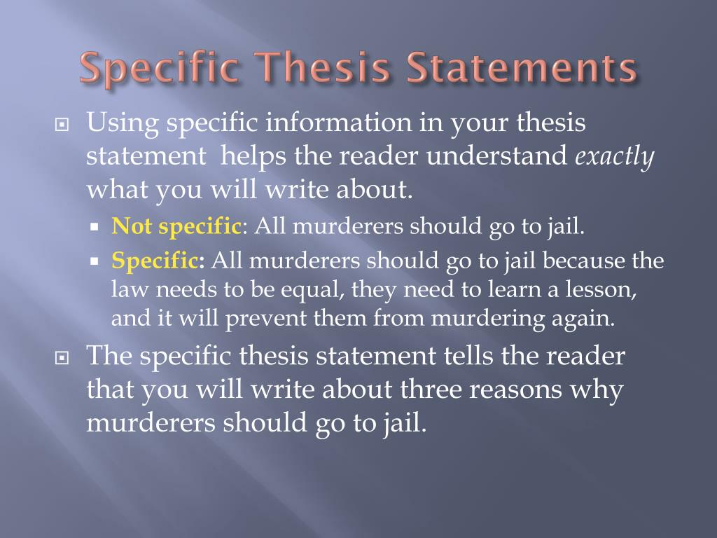 thesis statement on change Developing a thesis think of yourself a good, standard place for your thesis statement is at the end of an introductory paragraph, especially in shorter.