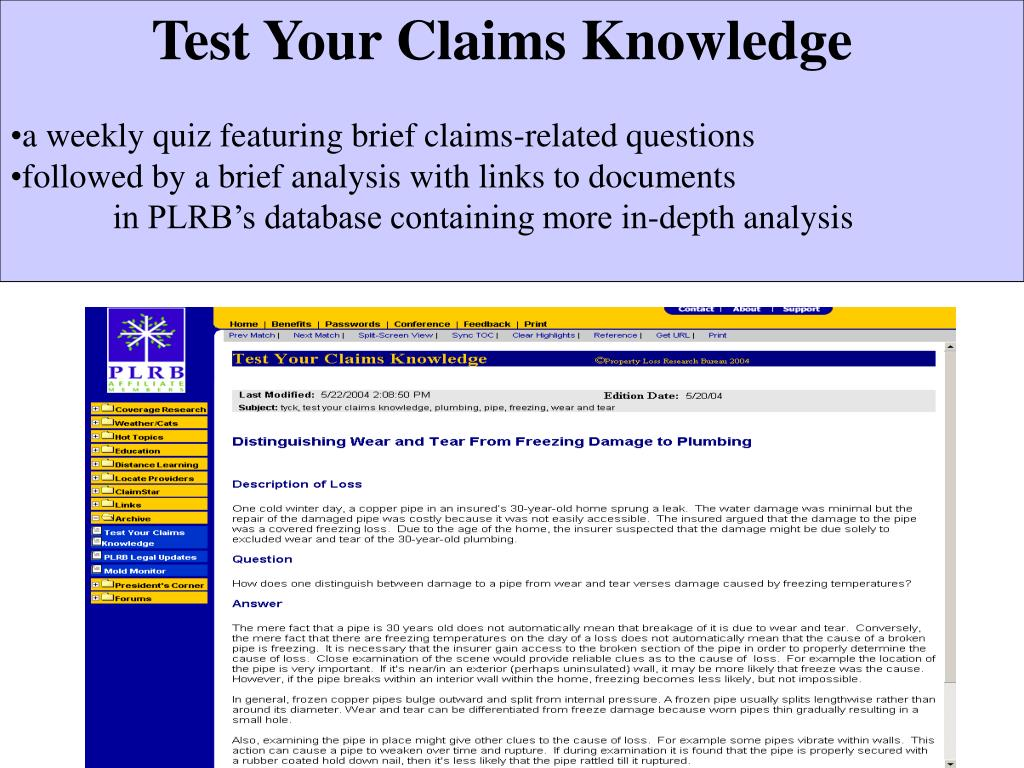 Test Your Claims Knowledge