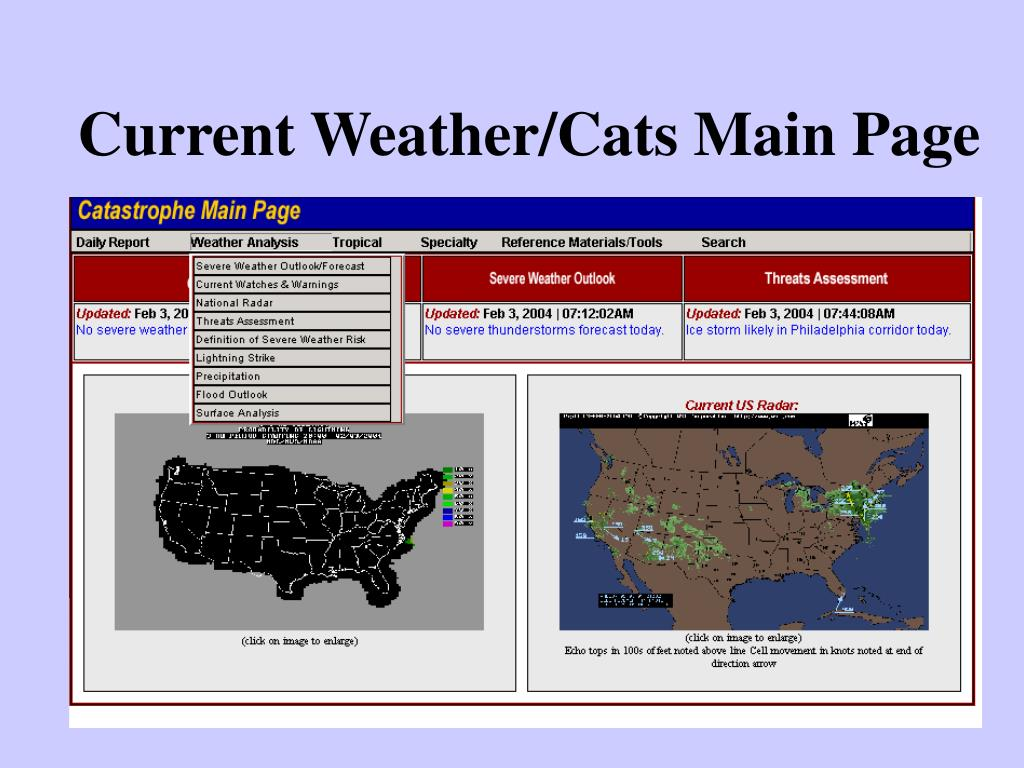 Current Weather/Cats Main Page