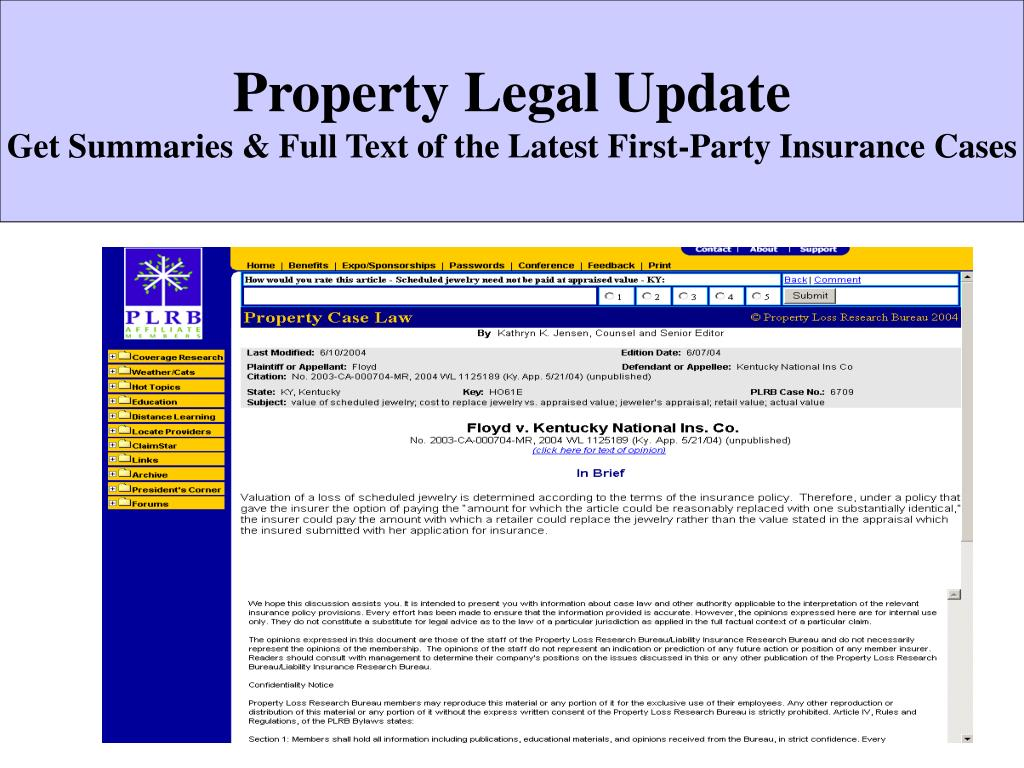 Property Legal Update