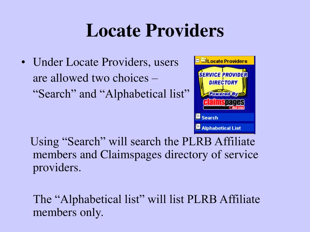 Locate Providers