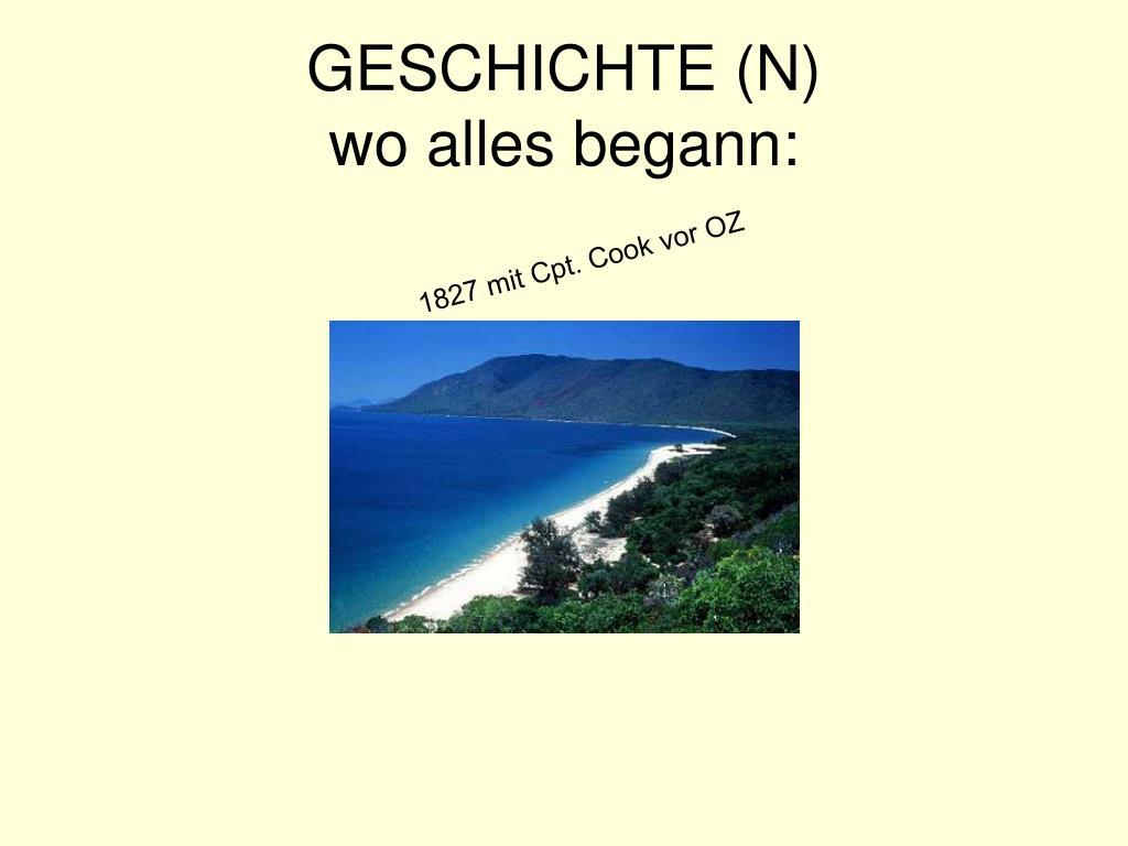 GESCHICHTE (N)