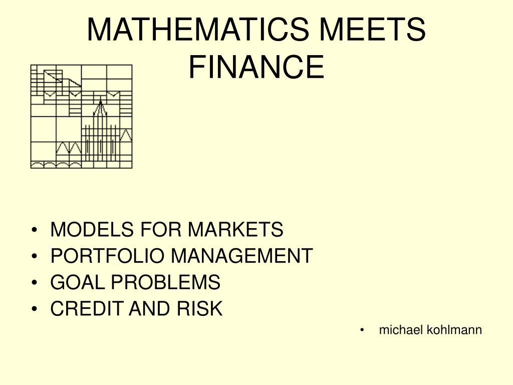mathematics meets finance