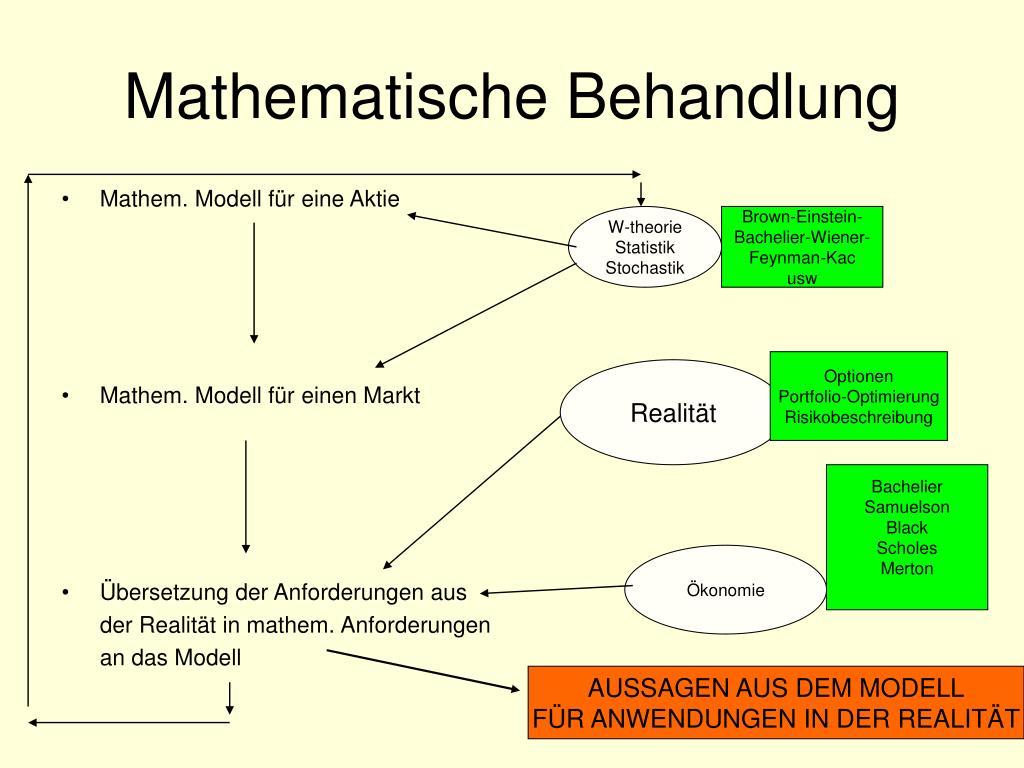 Mathematische Behandlung