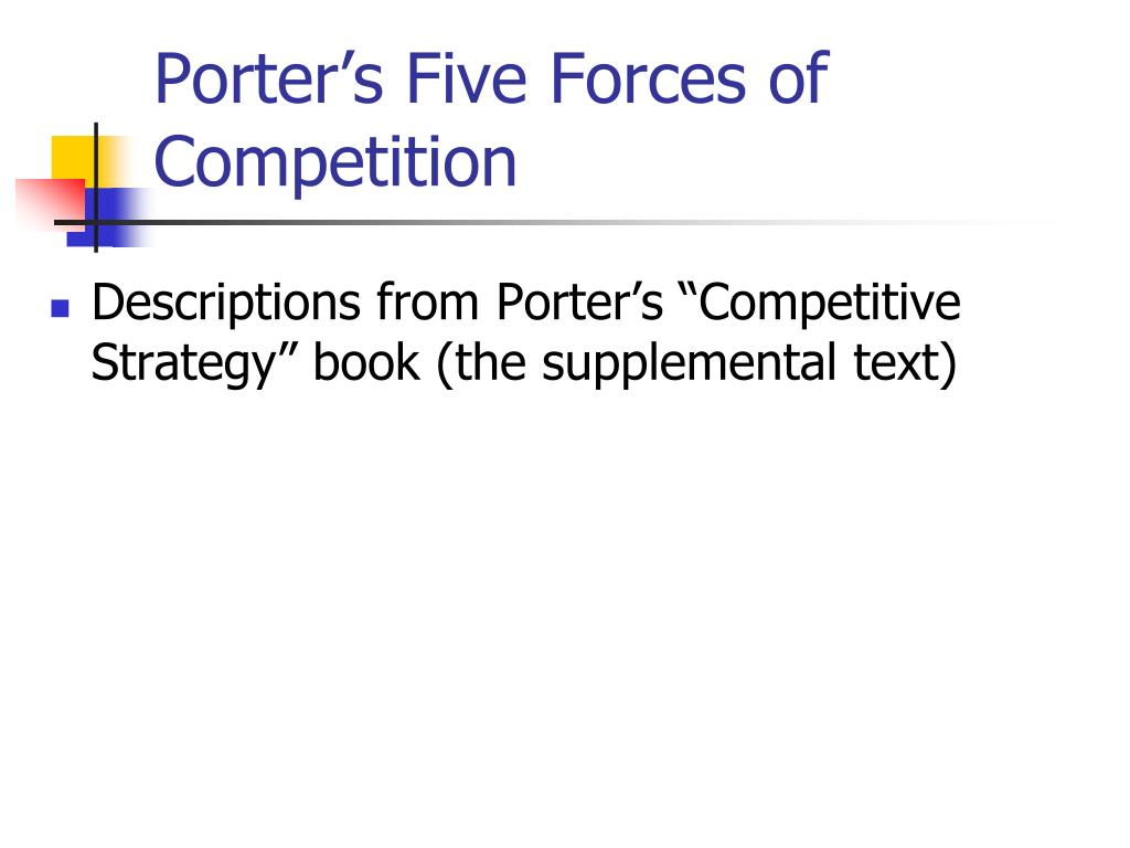 porter s five forces of l oreal The body shop external analysis internal environment the start of the company current situation internal environment pestled competition porter's 5 forces.