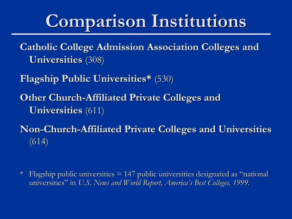 Comparison Institutions