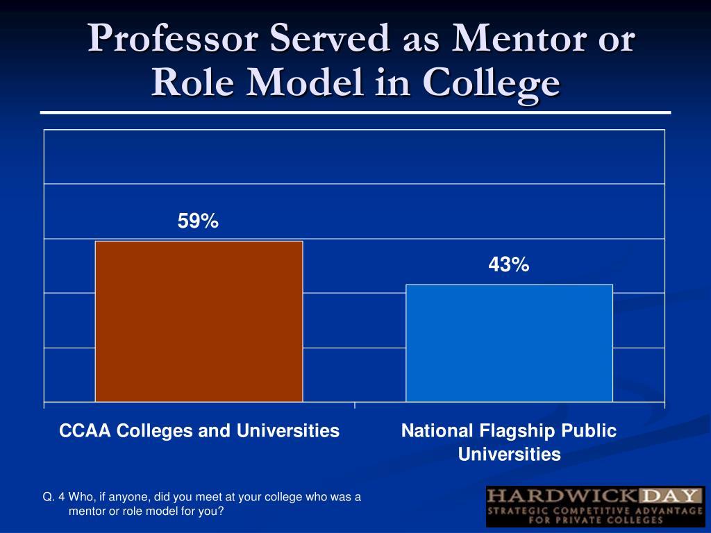 Professor Served as Mentor or
