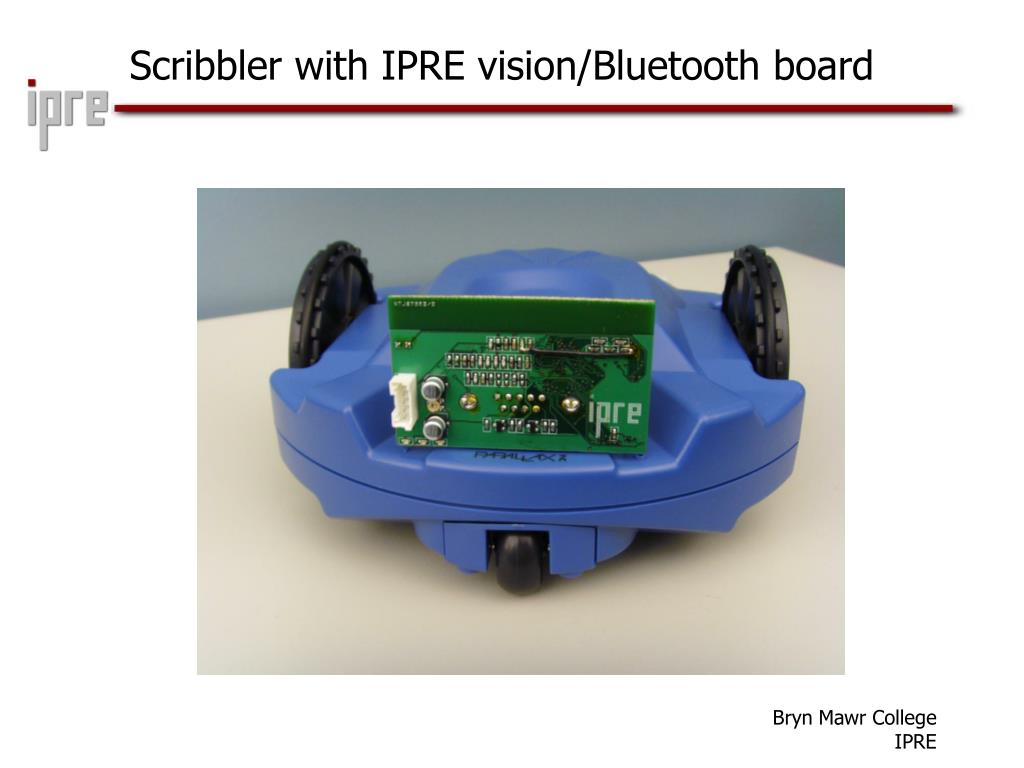 Scribbler with IPRE vision/Bluetooth board