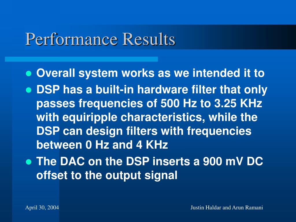 Performance Results