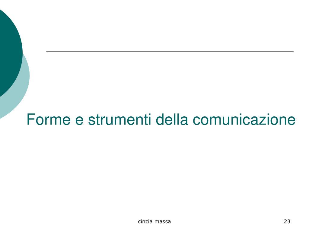 Forme e strumenti della comunicazione