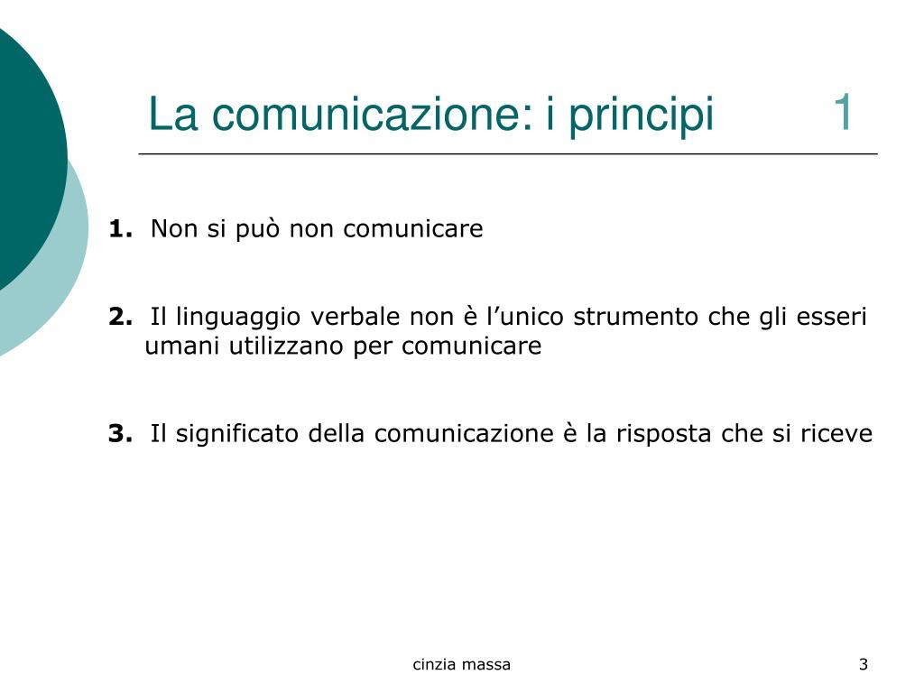 La comunicazione: i principi