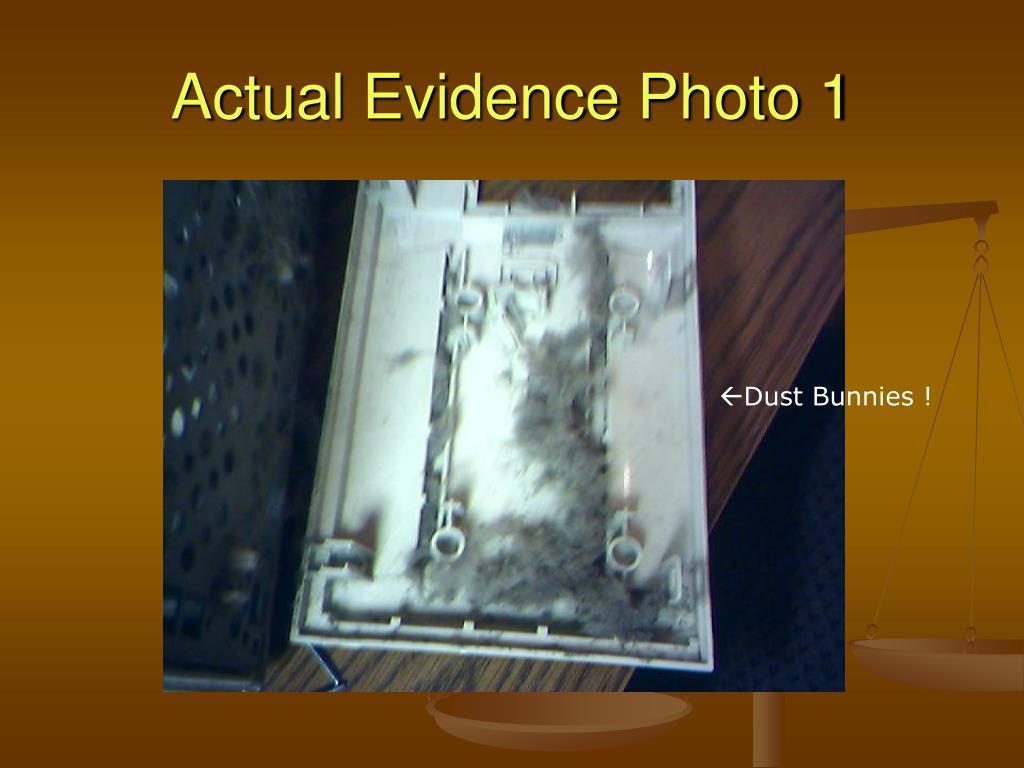 Actual Evidence Photo 1
