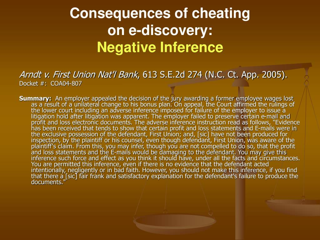 Consequences of cheating