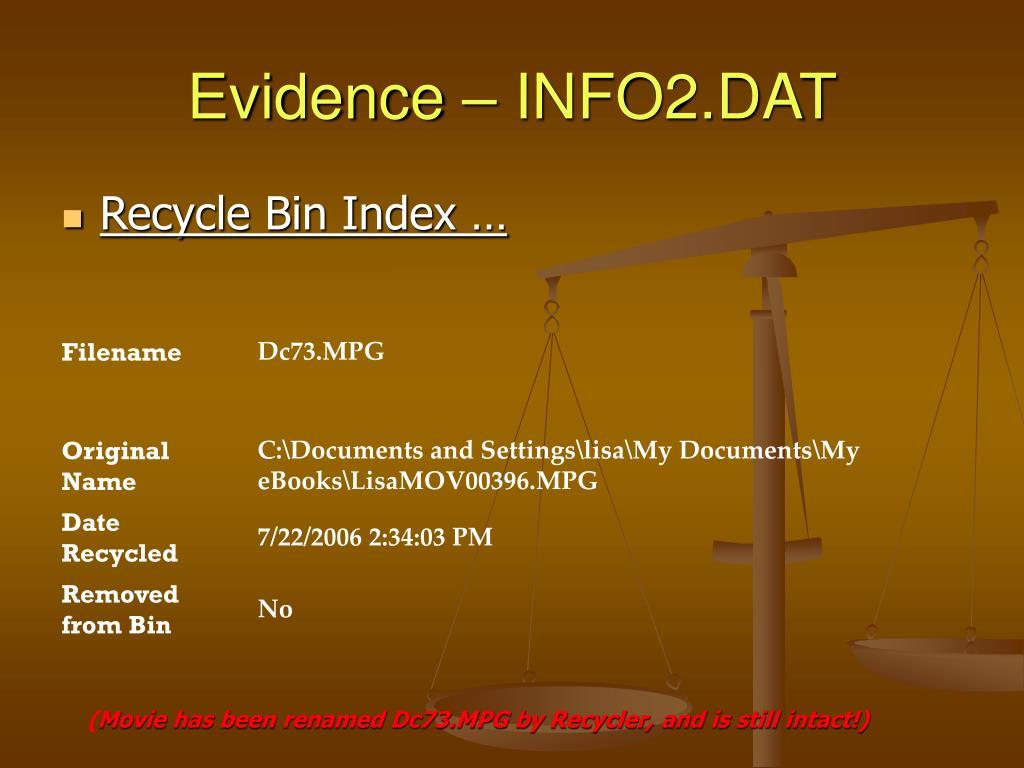 Evidence – INFO2.DAT