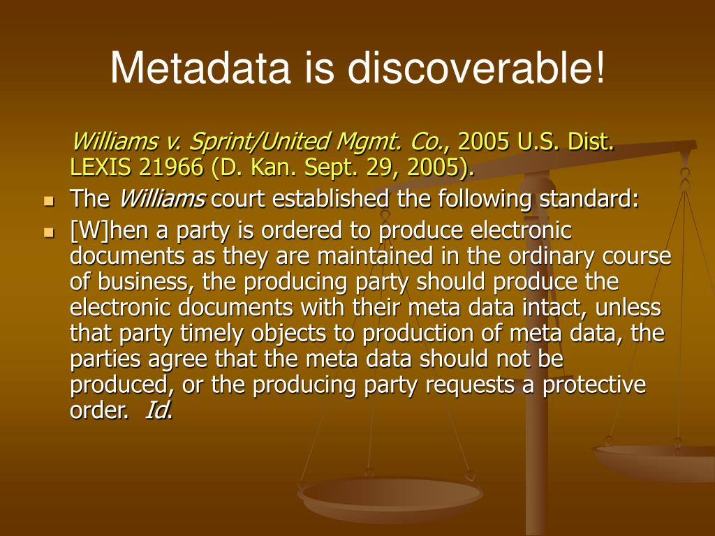 Metadata is discoverable!