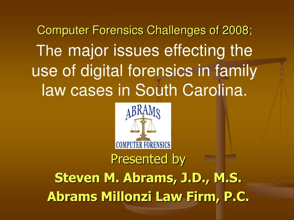 Computer Forensics Challenges of 2008;