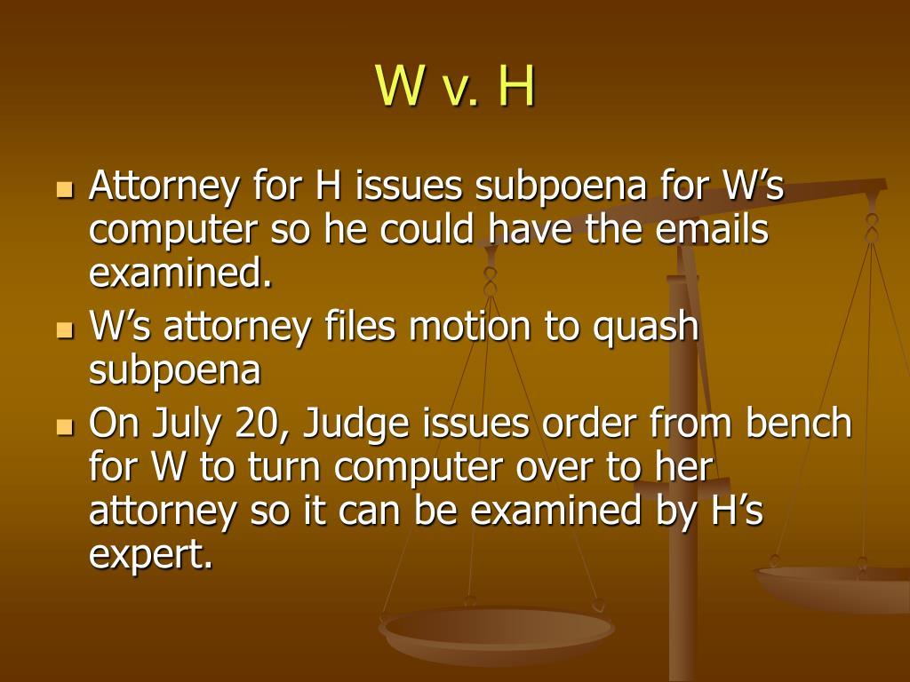 W v. H
