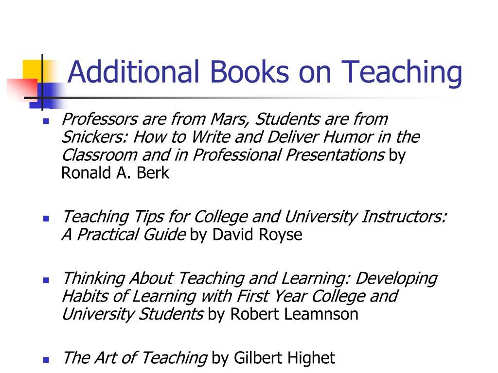 Additional Books on Teaching