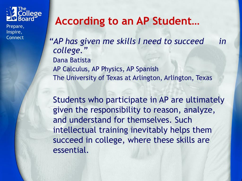 According to an AP Student…