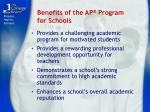 benefits of the ap program for schools