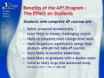 benefits of the ap program the effect on students