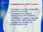 responsibilities of ap students