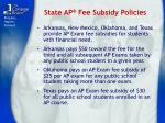 state ap fee subsidy policies