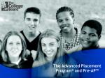 the advanced placement program and pre ap