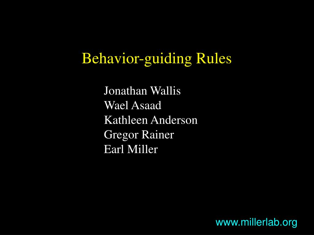 Behavior-guiding Rules