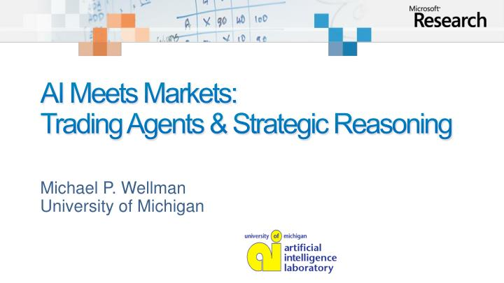 Ai meets markets trading agents strategic reasoning