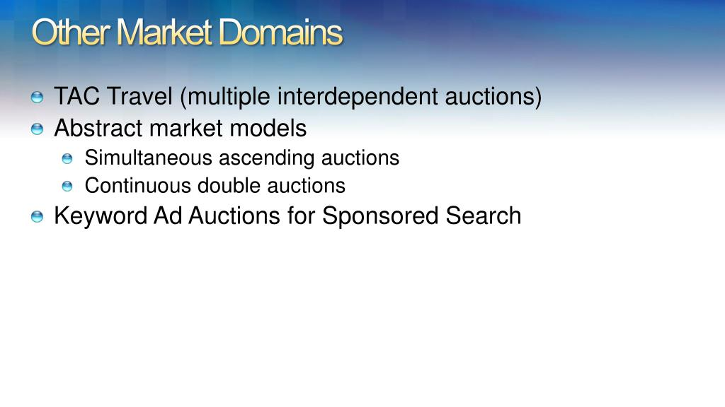 Other Market Domains