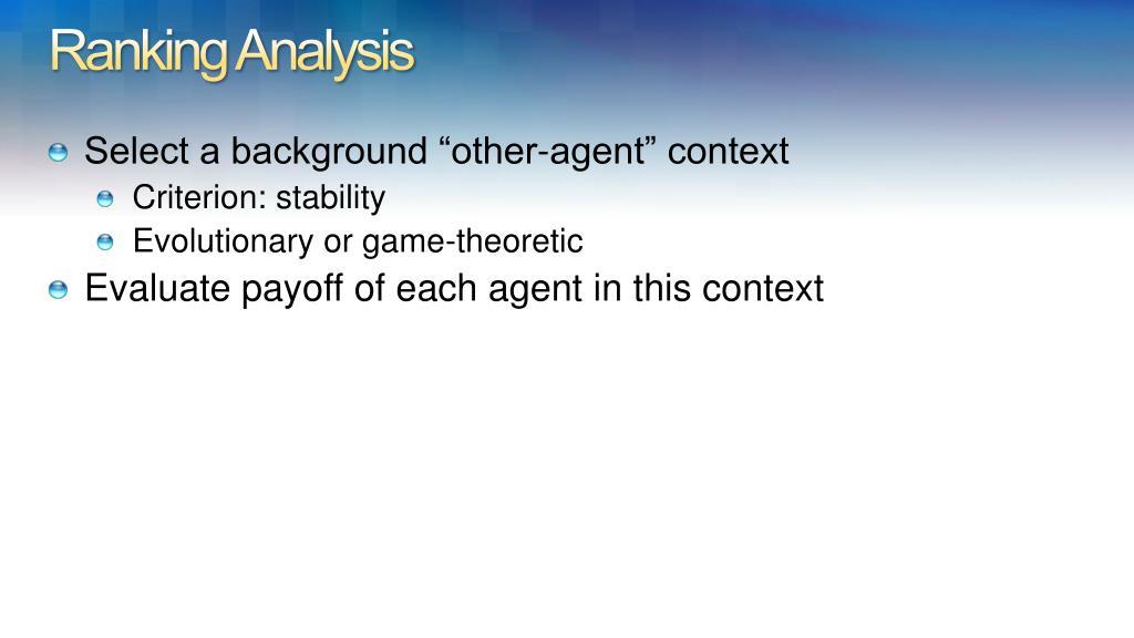 Ranking Analysis