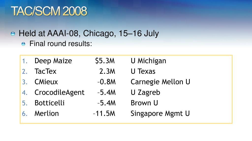 TAC/SCM 2008