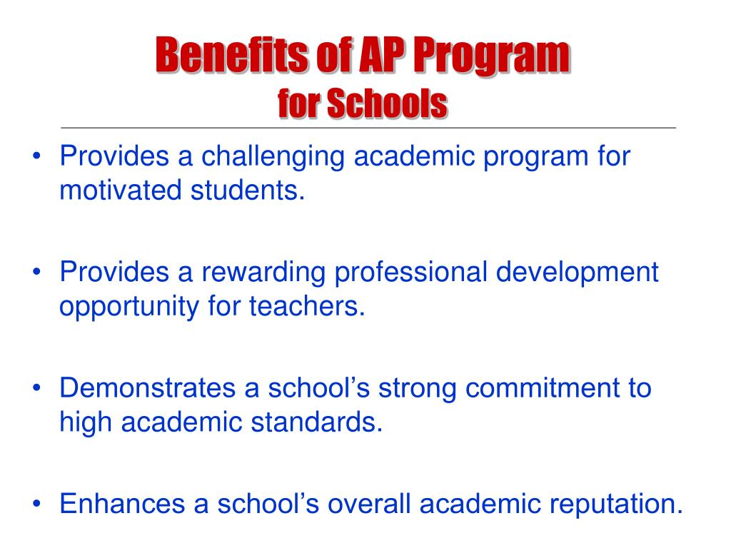 Benefits of AP Program